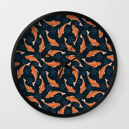 Goldfish in the pond Wall Clock