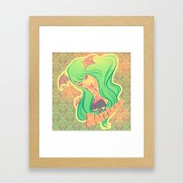 Morrigan Aensland Framed Art Print
