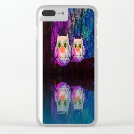 owl-145 Clear iPhone Case