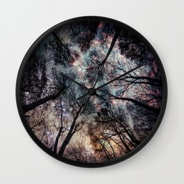 Starry Sky in the Forest Wall Clock
