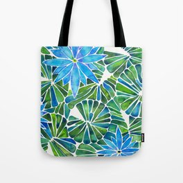Water Lilies – Blue & Green Palette Tote Bag