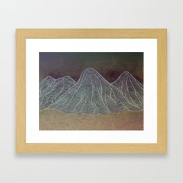 Range - Orange Framed Art Print