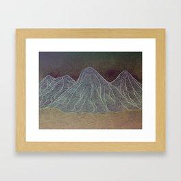 Range - Orange Framed Art Print