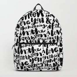 I love you in the morning Backpack