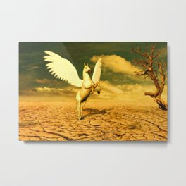 Pegasus, Winged Horse Metal Print