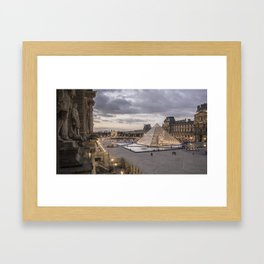 Sunset at the Louvre, Paris Framed Art Print