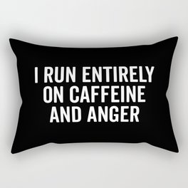 Caffeine And Anger Funny Quote Rectangular Pillow