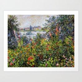 Monet: Flowers at Vetheuil Art Print