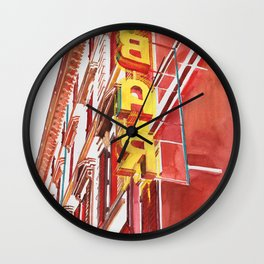 Bar sign in Rome Wall Clock