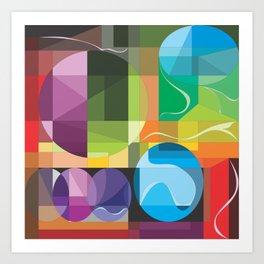 Color Lenses 1 by FreddiJr Art Print