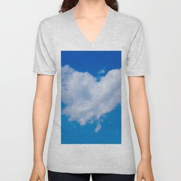 #Love is in the #Air a #cloud is #heart Unisex V-Neck
