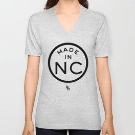 NC North Carolina (black) Unisex V-Neck