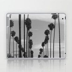 Vintage Black & White California Palm Trees Photo Laptop & iPad Skin
