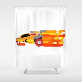 Octane Boost Shower Curtain