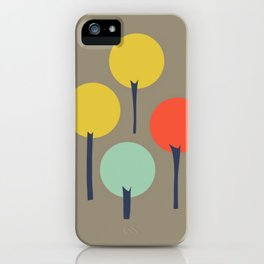 Color Pop Trees iPhone Case