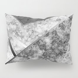 Combined abstract pattern in black and white . Pillow Sham