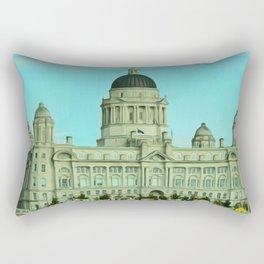 Port of Liverpool Building (Digital Art) Rectangular Pillow