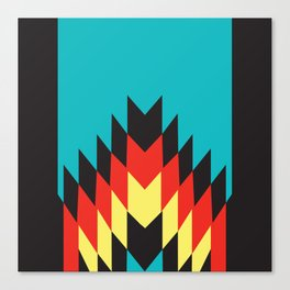 American Native Pattern No. 164 Canvas Print