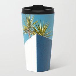 Cactus blue white Travel Mug