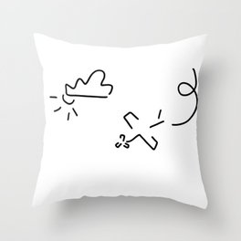 airplane flight show stunt pilot Throw Pillow