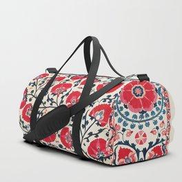 Shakhrisyabz Suzani Uzbekistan Embroidery Print Duffle Bag