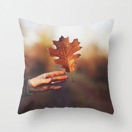 Catching a bit of Autumn Throw Pillow