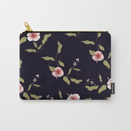 Pink Tropical Flowers #society6 #decor #buyart Carry-All Pouch
