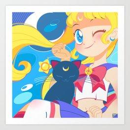 Sailor Moon by Bunny Art Print