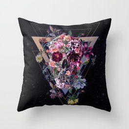 New Skull Throw Pillow