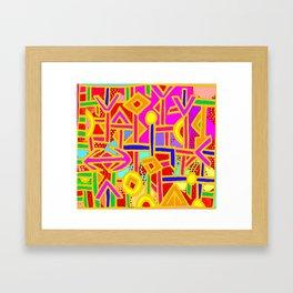 Vagabond Wanderer MaP Framed Art Print
