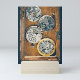 Four Watch Movements Mini Art Print