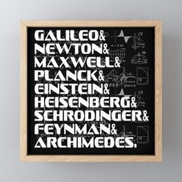 List Top Phycicists Background white Framed Mini Art Print
