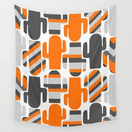 Modern striped cacti Wall Tapestry