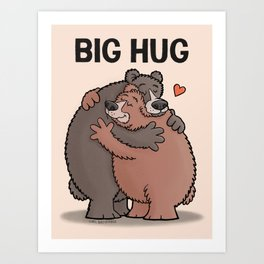 Big Bear Hug Art Print