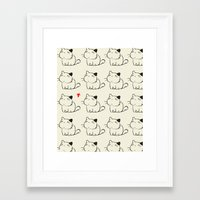 cats Framed Art Prints featuring cats by ururuty