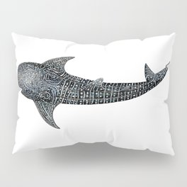 Whale shark Rhincodon typus Pillow Sham