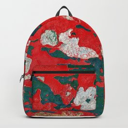 Park Table Rust in Red and Green Backpack