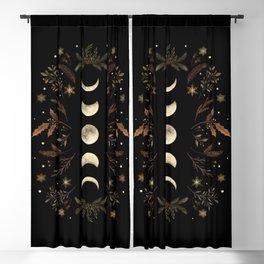 Moonlight Garden - Winter Brown Blackout Curtain