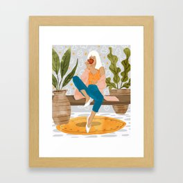 Boss Lady #illustration #painting Framed Art Print
