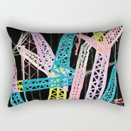New York Cranes Rectangular Pillow