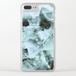 Grayish quartz detail Clear iPhone Case