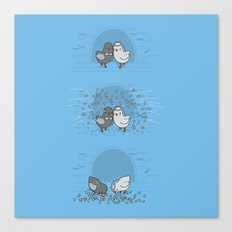 And then they blew up Canvas Print