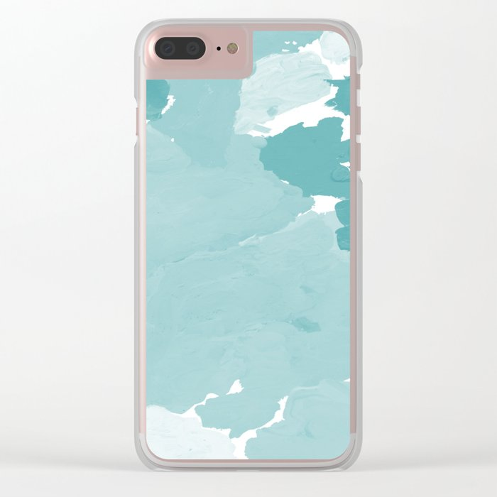 Aerin - abstract minimal painting decor for dorm college office gender neutral cool colors Clear iPhone Case