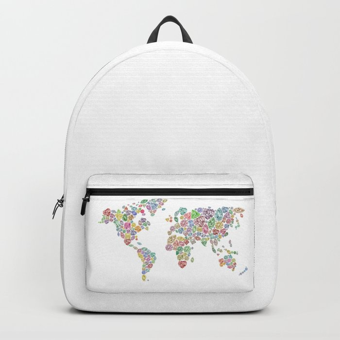 Diamonds World Map #3 Backpack