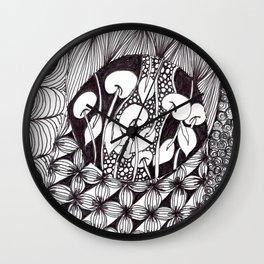 Zen Doodle Graphics zz17 Wall Clock