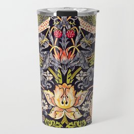 William Morris Strawberry Thief Art Nouveau Painting Travel Mug