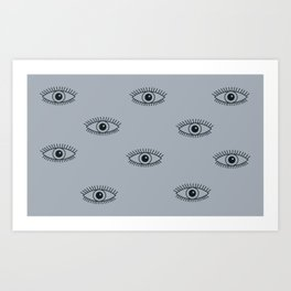 Shiva's eye Art Print