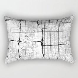 Salt Lake City Map White Rectangular Pillow
