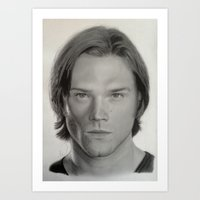 sam winchester Art Prints featuring Sam Winchester by Steve Nice
