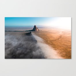 Shiprock volcanic formation in New Mexcio Canvas Print